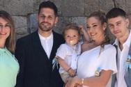 Μικαέλα Φωτιάδη - Γιάννης Μπορμπόκης: Βάφτισαν το γιο τους (φωτο)