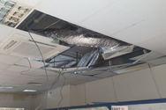 Λευκωσία: Κατέρρευσε μέρος της οροφής στο κτίριο του αεροδρομίου (φωτο)