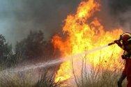 Πάτρα: Φωτιά από πτώση κεραυνού στο Άνω Καστρίτσι