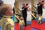 Η αντίδραση ενός μωρού όταν ακούει βιολί για πρώτη φορά (video)