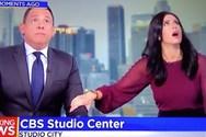 Η αντίδραση παρουσιαστών του CBS τη στιγμή του σεισμού στην Καλιφόρνια (video)