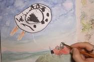 Μητέρα «αναβαθμίζει» τις ζωγραφιές των παιδιών της (video)
