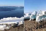 Τσουνάμι πάγου στη Ρωσία (video)