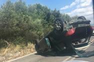 Πάτρα - Ανατροπή αυτοκινήτου σημειώθηκε στο Πετρωτό