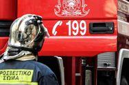 Αχαΐα: Φωτιά στον δρόμο από Λάππα προς Μετόχι
