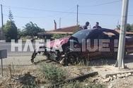 Τροχαίο ατύχημα στην Πατρών - Πύργου με τραυματισμό