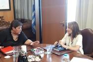 Πάτρα - Συνάντηση της Χριστίνας Αλεξοπούλου με την Πρύτανη του Πανεπιστημίου Πατρών
