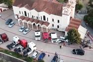 Πάτρα: Γαμπρός πήγε στην εκκλησία συνοδευόμενος από νταλίκες (video)