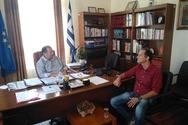 Αιγιάλεια: Συνάντηση του Δ. Καλογερόπουλου με τον Δασάρχη Αιγίου