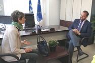 Πάτρα: Ο Νεκτάριος Φαρμάκης συναντήθηκε με την Κέιτ Σμιθ (video)