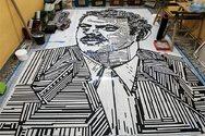 Τρίκαλα: Εντυπωσιακή προσωπογραφία του Βασίλη Τσιτσάνη με ψηφίδες (φωτο)