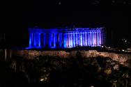 Η Ακρόπολη φωτίστηκε μπλε