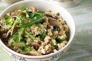 Κινόα με λαχανικά και μανιτάρια