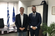 Συνάντηση του Νεκτάριου Φαρμάκη με τον Κοινοβουλευτικό Εκπρόσωπο της ΝΔ, Σπ. Λιβανό