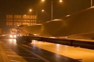 Μεταφορά πτερυγίων ανεμογεννητριών-αναστροφή στην περιοχή των διοδίων Ελευσίνας (video)