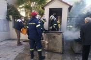 Πάτρα: Φωτιά από τα κεριά στο προσκυνητάρι του Αγίου Διονυσίου