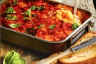 Ιταλικά λαζάνια με πολέντα στο φούρνο