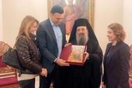 Στην Πάτρα με την Τζένη Μπαλατσινού, ο Βασίλης Κικίλιας (φωτο)