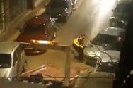 Κατερίνη: Σήκωσαν στα χέρια αυτοκίνητο (video)