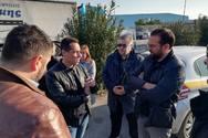 Στις εργασίες συντήρησης της παλαιάς εθνικής οδού στο Αίγιο, ο Νεκτάριος Φαρμάκης