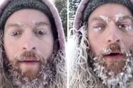 Άνδρας βγαίνει στους -26C και μετατρέπεται σε… γλυπτό από πάγο (video)