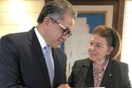 Η Λίνα Μενδώνη συναντήθηκε με τον Αιγύπτιο υπουργό τουρισμού