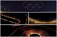 Ολυμπιακοί Αγώνες - Ένα drone ζωγραφίζει το σύμβολο τους επάνω από το Καλλιμάρμαρο (video)