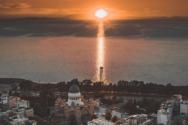 Πάτρα - Η στιγμή που ο ήλιος αποσύρεται στη Δύση