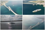 Γέφυρα Ρίου - Αντιρρίου: «Κρεμασμένη» μεταξύ ουρανού και θάλασσας (video)