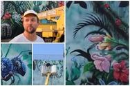 Πάτρα - Backstage από το... παραδεισένιο mural του Mike Makatron (video)