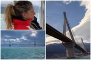 Περνώντας με το ιστιοπλοϊκό κάτω από την Γέφυρα Ρίου - Αντιρρίου (video)