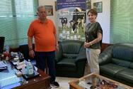 Επίσκεψη Χριστίνας Αλεξοπούλου στη γαλακτοβιομηχανία «Πρώτο»