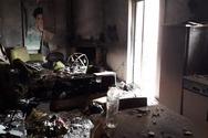 Πάτρα: Βραχυκύκλωμα κατέστρεψε σπίτι στο Μπεγουλάκι (φωτο)