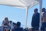 Ο «Προύσαλης» πήγε για μπάνιο στην παραλία της Καλόγριας!
