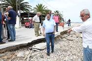 Πελετίδης: Zητά να κηρυχθούν οι κατεστραμμένοι παραλιακοί δρόμοι, σε κατάσταση έκτακτης ανάγκης