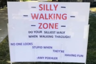 Γειτονιά συμμετέχει σε… ζώνη χαζού περπατήματος (video)