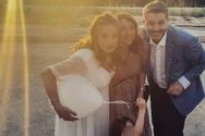Μπουρδούμης - Δροσάκη: Το οικογενειακό τραπέζι στην Πάτρα, μετά το γάμο (φωτο)