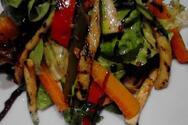 Βραστά λαχανικά με dressing μπαλσάμικου