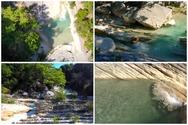 Ο καταρράκτης Τρύφου (Νήσσας) στην Αιτωλοακαρνανία από ψηλά! (video)