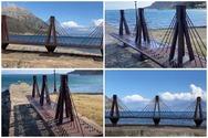 Κάτω Βασιλική - Ένα ομοίωμα της Γέφυρας απέναντι από τη Γέφυρα Ρίου Αντιρρίου (video)