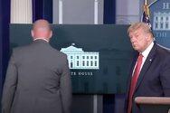 ΗΠΑ: Διακόπηκε η συνέντευξη Τύπου του Τραμπ - Συνελήφθη τραυματισμένος ένας ύποπτος
