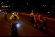 Νυχτερινή ποδηλατάδα στην Παραλία της Πάτρας - Δείτε βίντεο
