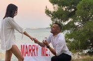Ο Βασίλης Σαντριάς έκανε πρόταση γάμου στη σύντροφό του (φωτο)