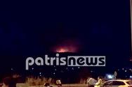 Ηλεία: Ολονύχτια μάχη με τις φλόγες στην Δάφνη - Οριοθετήθηκε η φωτιά (φωτο)