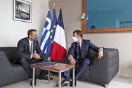Κορσική: Απόλυτη συμφωνία Μητσοτάκη και Μακρόν - Κοινό μήνυμα για κυρώσεις σε βάρος της Άγκυρας