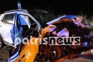 Τρεις τραυματίες σε τροχαίο στην Πατρών - Πύργου (φωτο)