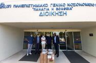 Πάτρα: Δωρεά μασκών σε νοσοκομεία από την Αντικαρκινική Εταιρεία (φωτο)