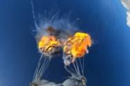 Έβαλε φωτιά στο αλεξίπτωτο του ενώ έκανε ελεύθερη πτώση (video)