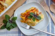 Λαζάνια στο φούρνο με κολοκύθα
