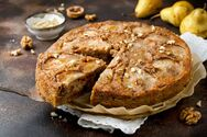 Κέικ αχλάδι με καρύδια